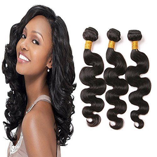 Dai Weier Body Wave Bundles Grade 8a Brazilian Hair 3 Packs Prime Real Hair Extensions Remy Virgin Weave Same Day Delivery Natural Color22 24 26 Inches