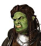 Latex Applikation Halbmaske Ork Maske Halloween Karneval Fasching