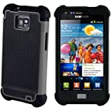 32nd® Shock proof case cover for Samsung Galaxy S2 Sii i9100 + screen protector, cleaning cloth and touch stylus - Grey