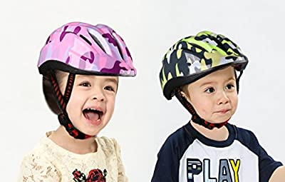 ICOCOPRO Kids Bike Helmet - CSPC Certified for Safety and Comfy - Double Adjustment Cycle Hlemt for Children Boys and Girls - Lively Colors Design from ICOCOPRO