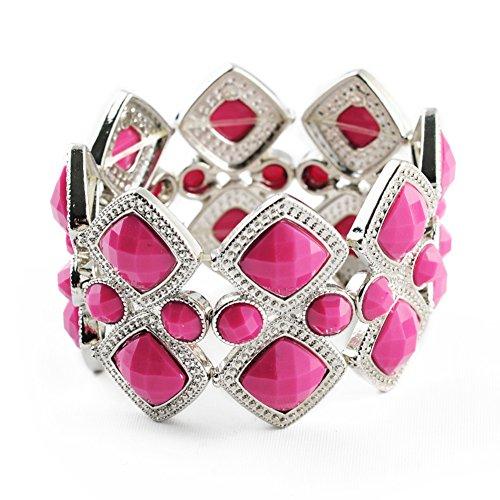 Corea imitazione pietra preziosa del braccialetto/ vintage Bracciale Stretch/ mano della signora gioielli/ ladies gioielli (Fortunato Braccialetto Della Pietra Preziosa)