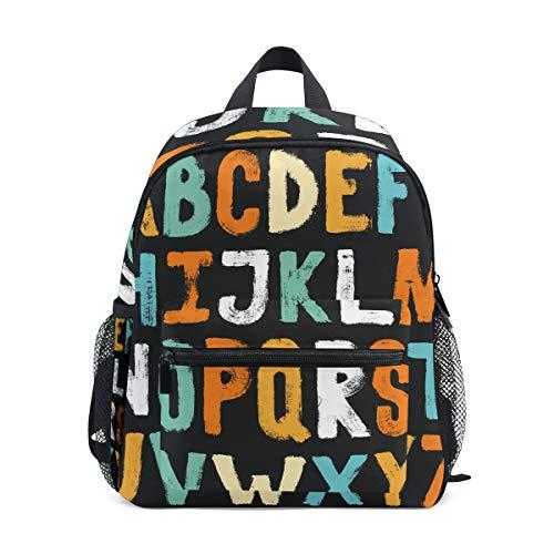 Wowprint Bunte ABC Alphabet Kinder Rucksack Kindergarten Vorschultasche Tasche für Kleinkinder Mädchen Jungen