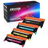 Amstech 4Pack Kompatibel CLT-K406S CLT-P406C Toner für Samsung Xpress C410 C460fw Toner 410 C410W C460w CLP 365 460 CLX-3305FN Samsung CLX 3300 3305 FN CLP 360 Samsung C460 CLP-360 CLX-3300 Series