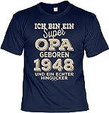 Cooles T-Shirt zum 70. Geburtstag T-Shirt Ich Bin EIN super Opa geboren 1948 Geschenk zum 70 Geburtstag 70 Jahre Geburtstagsgeschenk 70-jähriger