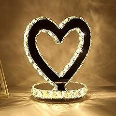 Idea Regalo - lampada a forma di cuore camera da letto comodino regali di nozze Lampada da tavolo di nozze lampada da comodino cuore creativo, LED