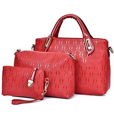 La donna pu canna borsa a tracolla / Tote - bianco / viola / blu / Oro / Rosso / Nero,Bianco Ruby
