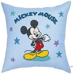 5994 Stickerei-Kit Kissen Disney Mickey Mouse Sterne Orimupasu (Japan Import / Das Paket und das Handbuch werden in Japanisch)
