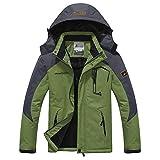 Ucamara Softshelljacke Herren Gefüttert Funktionsjacke Wasserdicht Atmungsaktiv Wandern Outdoor Jacke Winter Skijacke Grün, Gr. EU-XL/Asia-3XL