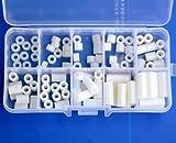 Electronics-Salon Nylon Rund Spacer Sortiment Kit, für M3 Schrauben, Kunststoff.