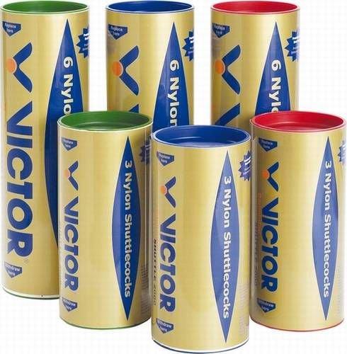 VICTOR Nylon-Federball »Nylon Shuttle 2000 gold« (6er Pack), gelb, fast
