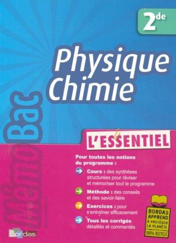 Physique Chimie 2e : L'essentiel par Jean-Claude Paul, Michel Faye