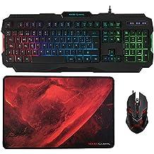 Mars Gaming MCP118 - Pack iluminación RGB de teclado, ratón y alfombrilla gaming
