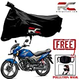 #10: Bike body cover For Honda CB Shine Polyester 190T Resistant Heavy Duty Dust Sun & UV Protection Covers Indoor Outdoor Protection for Mountain Road Bikes And Get A Free Anti Pollution PM 2.5 Face Mask Cotton Fabric Unisex Mouth Mask