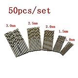metrico HSS ad alta velocità in acciaio torsione trapano ad angolo per ferro, legno, plastica 1.0mm 1.5mm 2.0mm 2.5mm 3.0mm 50pz