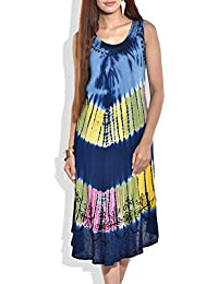 Beautiful beach wear dress or beach wear cover up over swimsuits, comfortable loose fit