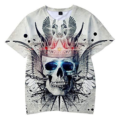 MR.YATCLS Rock- Und Hip-Hop-T-Shirt, Sommer-Polyester-T-Shirt, 3D-bedrucktes, Kurzärmliges T-Shirt, Unisex-T-Shirt, ()