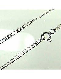 ASS 925 plata mujer hombre Figaro cadena de 60 cm 3.5 mm Collar