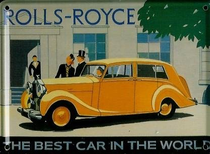 rolls-royce-mini-blechschild-blechpostkarte-the-best-car-8x11cm-nostalgieschild-retro-schild-metal-t