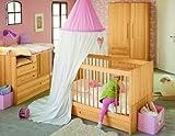 BioKinder 22600 Lina Babybett Kinderbett aus Massivholz Erle 70 x 140 cm