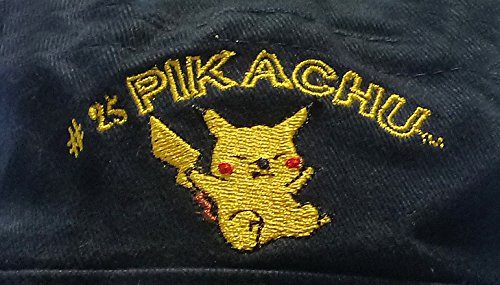 Original-Nintendo-Pokmon-gorro-gorra-fishing-hat-bucket-hat-nios-56-cm-100-algodn-pikachu-embroidery-Darkblue