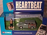corgi classic heartbeat morris minor traveller car & figure set from the tv series 1.43 scale diecast model