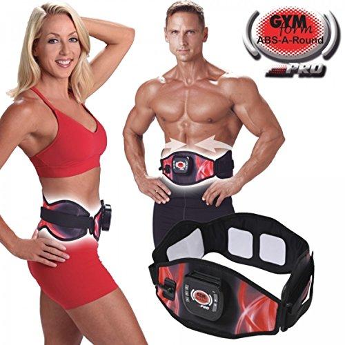 TrAdE shop Traesio®® Gym Form ABS a Round Pro Banda Electroestimulador Cinturón Reductora Abdominales
