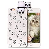 RosyHeart Coque Apple iphone6 Plus Silicone iphone6S + Souple Gel TPU Etui 3D Mignon Design Flexible Soft Backcover Anti Choc Housse de Protection pour iphone6S Plus,Petit Panda