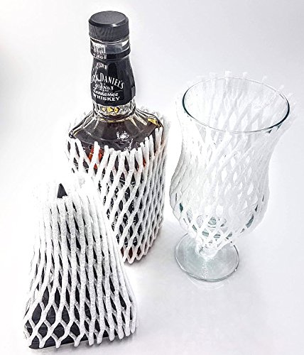Gestrickte Schutzhüllen für Glasflaschen, aus Schaumstoff, Netzmuster, für Wein/Spirituosen etc., 20 Stück