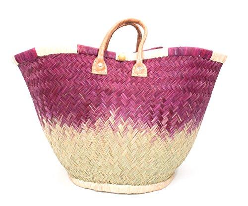 FISH IN THE SEA Quattro Designer Korbtasche Strandtasche S ★M★L Ibiza Handtasche Damen Lederhenkel Pink Türkis Bordeaux