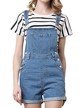 Le Donne Occasionale Shortalls Tunica Salopette Di Jeans Jeans, Tute