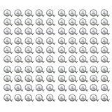 Outflower 100 Perle con rivetto di fissaggio per Scarpe Abbigliamento pacchetti o accessori decorativi (10mm), Perla, bianco, 6mm