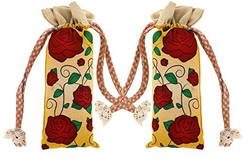 Natürlicher Schuh Deodorisierer und Geruch Vernichter für Schuhe Absorbiert Feuchtigkeit – Duft Zwei Bambus Kohle Lufterfrischer Rote Rosen Design (Kohle-schuhe)