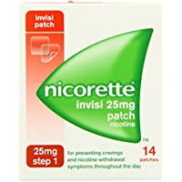 Nicorette InvisiPatch, Step 1, 25 mg, 14 Nicotine Patches (Stop Smoking Aid)