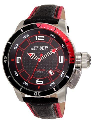 Jet Set Herren Analog Quarz Uhr mit Leder Armband J90101-238