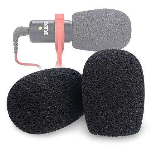 YOUSHARES Filtro in Schiuma per Parabrezza VideoMicro - Spugna Protezione Antivento per Scudo Antivento per Microfono Compatto Rode VideoMic Me Me-L (PACCO 2)