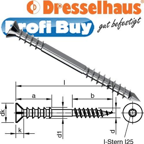 JD Justierschrauben 6,0x100mm   VE = 100 Stück   galv. verzinkt, I-Stern T25