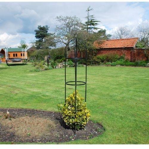 Generic Ivy Trel Unterstützung Rahmen E Ivy Kletterpflanzen Pflanze SUP Outdoor Garten schwarz Klettern P Ivy, 1,9m AL OB Metall Obelisk