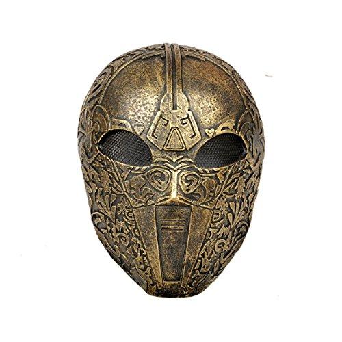 Golden Flower Maske - Gold Masken Halloween Horror Film Zhou
