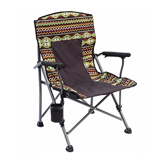 HM&DX Portable Chaises Pliantes Exterieures Chaises De Camping Chaise De Plage Pliante Modèle Exotique Porte-gobelet Badminton Sac Jardin Camping Pêche Randonnée Picnic