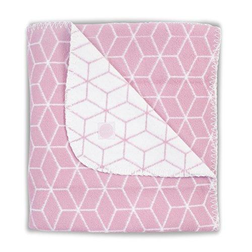 Jollein 514-511-65119 Baby-Vlies-Decke Graphic malve Gr. 75x100 cm