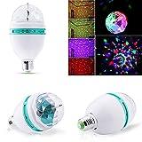 Huston Lowell® Ampoule rotative à LED Lumière d'ambiance pour Soirée/Boîte de nuit/Karaoké/Club/Fêtes Boule a facette RGB
