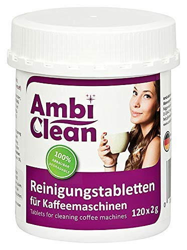 AmbiClean® Reinigungstabletten für Kaffeevollautomat und Kaffeemaschine | für Privat, Büro und Gastronomie - 120 Tabletten je 2g
