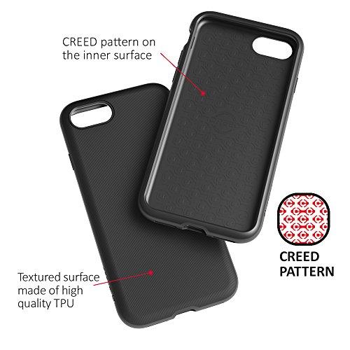 CREED iPhone 7 Nimbus TWIN GLASS EDITION aus deutschem Xensation Premium Glas by SCHOTT AG (inkl. Panzer-Glas)Schutzhülle für iPhone 7 Hülle - Schutzhuelle, iPhone 7, iPhone 7 Case - Dual-Layer Schutz Deep Black