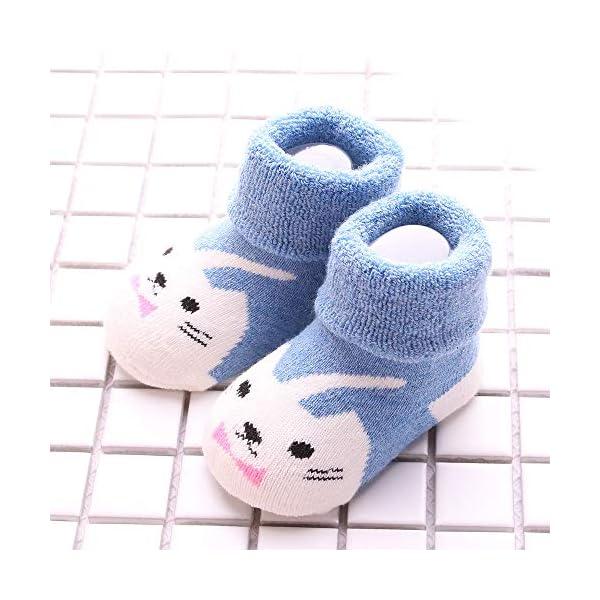 Sweetneed 5 Pares Calcetines Recien Nacido niño Calcetines de recién nacido Calcetines bebe niña Invierno 0-36 Meses 5