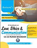 Law, Ethics and Communication for CA IPCC (Old Syllabus) Latest Edition By Munish Bhandari Applicable for November 2019 Exam