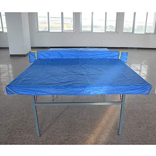 ATR Garten Rattan Möbel Abdeckung Set Abdeckung Billard Tisch Staubschutz Tischtennisplatte Wasserdicht Sonnenschutz Oxford Tuch Blaue Plane (Farbe: Blau, Größe: 152,5x274 cm) -