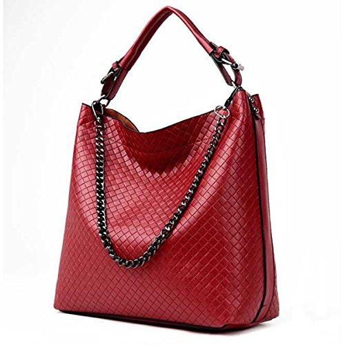 Frauen-PU-Leder Koreanische Modedesigner Handtasche Schultertasche Red