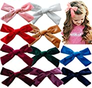 Hair Bow Clips Big Barrettes for Girls Toddlers Hair Accessories Pigtails Grosgrain Ribbon Hair Bow Organizer