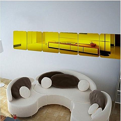 T-Mida Home,Nuova scatola acrilica 3D Stereo specchio parete adesivi decorazione parete adesivo 10 cm * 6 - Decorazione Della Parete Pittura Acrilica