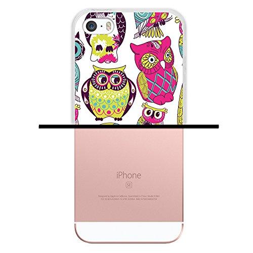iPhone SE iPhone 5 5S Hülle, WoowCase® [Hybrid] Handyhülle PC + Silikon für [ iPhone SE iPhone 5 5S ] Husky-Hunde Sammlung Tier Designs Handytasche Handy Cover Case Schutzhülle - Transparent Housse Gel iPhone SE iPhone 5 5S Transparent D0519